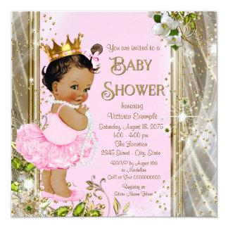 Ethnische Babyparty Prinzessin-Tutu Pink Gold Karte