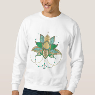 Ethnische Blumenlotos Mandalaverzierung Sweatshirt