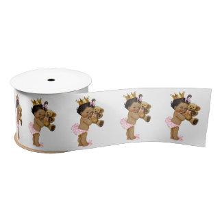 Ethnische Mädchen-Babyparty Prinzessin-Teddybär Satinband