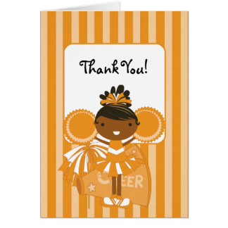 Ethnische orange Cheerleader KRW danken Ihnen zu Karte