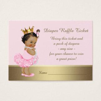 Ethnische Prinzessin Diaper Raffle Ticket