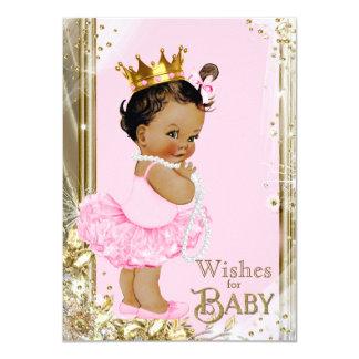 Ethnische Prinzessin Tutu Pearls Wishes für Baby Karte