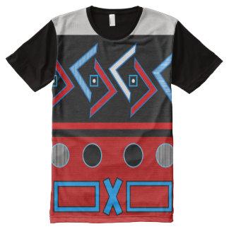 ETHNISCHER DRUCK-T - SHIRT, i-Kunst und Entwürfe T-Shirt Mit Komplett Bedruckbarer Vorderseite