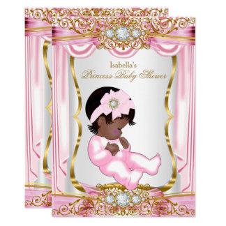 Ethnisches hübsches Rosa-Seide-Gold Karte