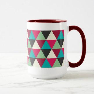 Ethnisches modisches geometrisches Dreieck-Muster Tasse