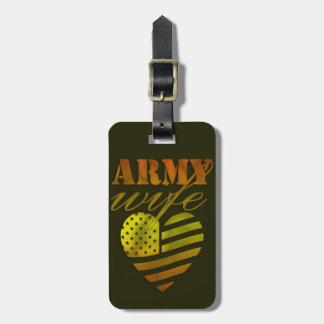 """Etikett des Gepäcks """"ARMY Wife """" Kofferanhänger"""