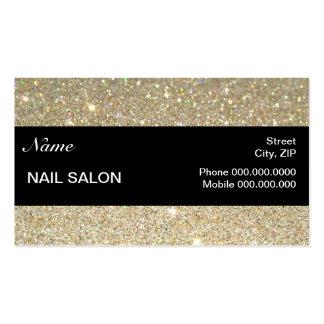 étincelles et salon élégants BusinessCard de clou Carte De Visite Standard