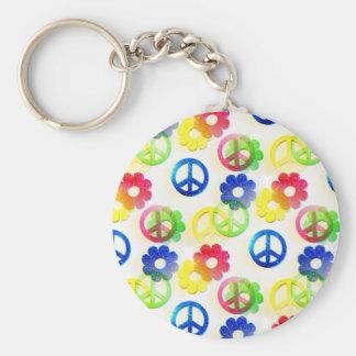 Étincelles hippies super de flower power de signes porte-clés