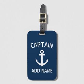 Étiquette À Bagage Capitaine nautique fait sur commande de bateau