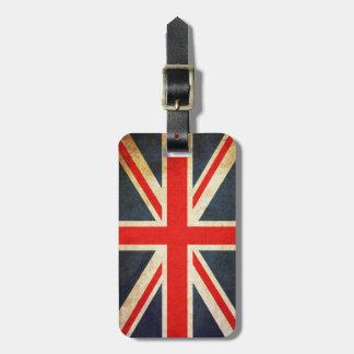 Étiquette À Bagage Étiquette britannique vintage de bagage de drapeau