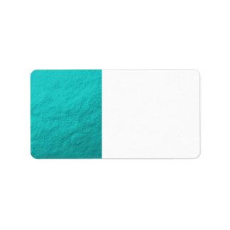 Étiquette Aluminium bleu d'Aqua cyan imprimé
