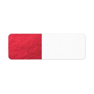 Étiquette Aluminium rouge imprimé