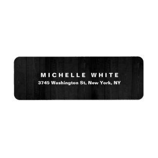 Étiquette Conception en bois grise minimaliste moderne