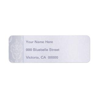 Étiquette Damassé bleu-clair