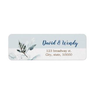 Étiquette de adresse de retour de mariage du pays