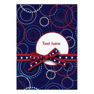 Étiquette de cadeau de feux d'artifice carte de visite grand format