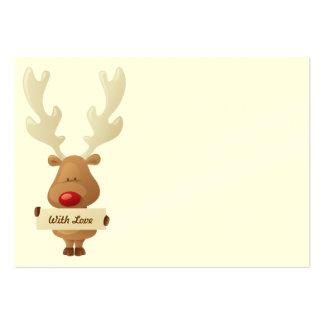 Étiquette de cadeau de Noël de renne Carte De Visite Grand Format