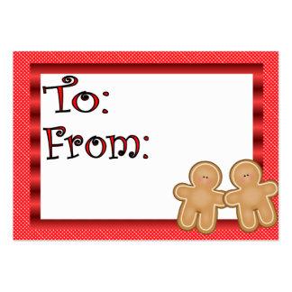 Étiquette de cadeau de pain d'épice cartes de visite personnelles