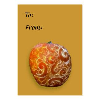 Étiquette de fantaisie de citrouille de thanksgivi carte de visite