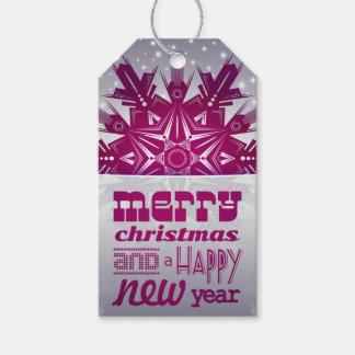 Étiquette de Joyeux Noël et de bonne année
