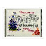 Étiquette de parfum de Violette de Français