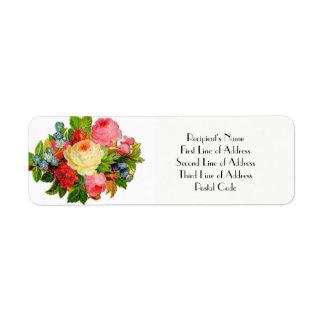 Étiquette Fiançailles de retour FLORAL de MARIAGE