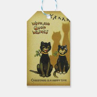 Étiquette heureuse de Noël de chats