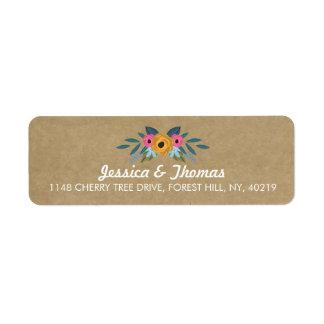 Étiquette La collection florale rustique de mariage de