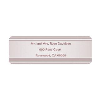 Étiquette Le rose rougissent regard d'éclat