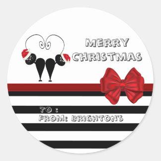 Étiquette lunatique drôle de cadeau de couples sticker rond