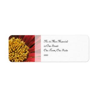 Étiquette Mariage rouge rustique