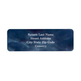 Étiquette Nuages de bleu de Catalina