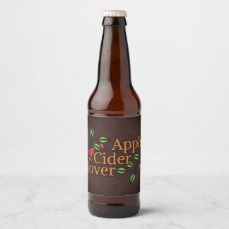 Étiquette Pour Bouteilles De Bière Amant de cidre d'Apple