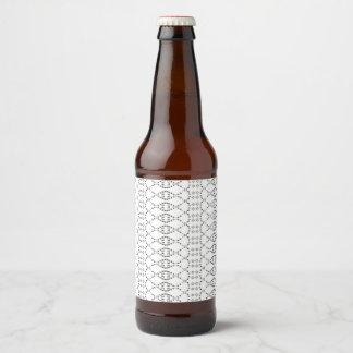 Étiquette Pour Bouteilles De Bière Art nordique des textes ASCII de Knit de musique