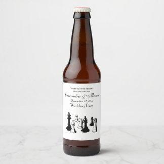 Étiquette Pour Bouteilles De Bière Art vintage #2 de pièces d'échecs