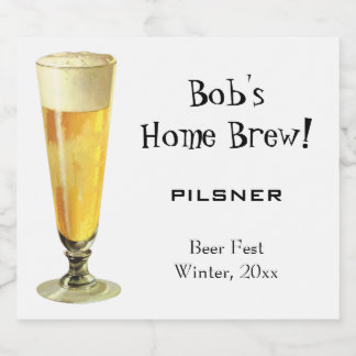 Étiquette Pour Bouteilles De Bière Bière pression givrée grande vintage, Brew avec la