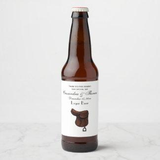 Étiquette Pour Bouteilles De Bière Chevaux - couleur équestre de très bon goût de