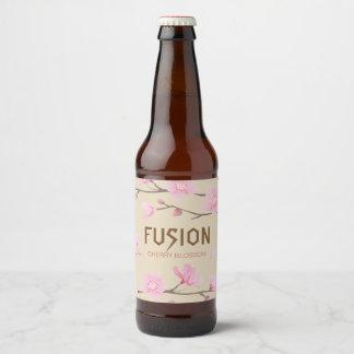 Étiquette Pour Bouteilles De Bière Fleurs de cerisier - FUSION