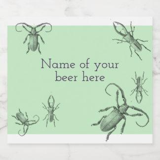 Étiquette Pour Bouteilles De Bière Illustration vintage de scarabée