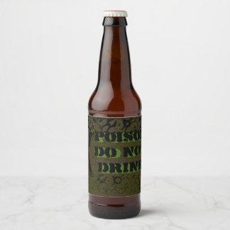 Étiquette Pour Bouteilles De Bière La bouteille de poison marque Halloween grunge
