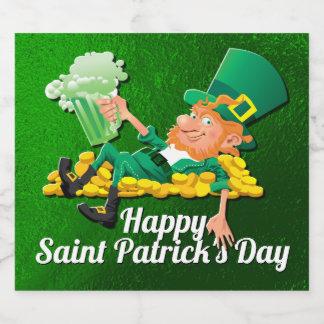 Étiquette Pour Bouteilles De Bière Lutin du jour de St Patrick