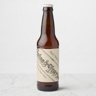 Étiquette Pour Bouteilles De Bière Notes vintages et questions Typograph
