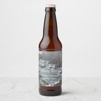 Étiquette Pour Bouteilles De Bière Photo brumeuse de littoral
