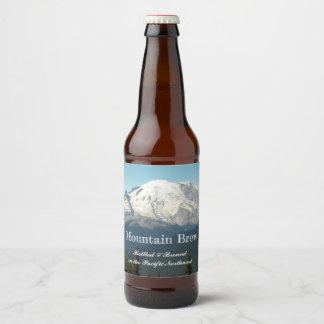 Étiquette Pour Bouteilles De Bière Photo du mont Rainier
