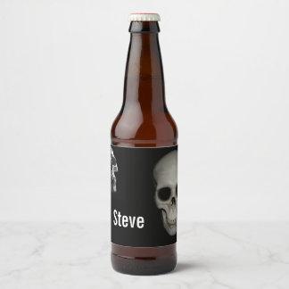 Étiquette Pour Bouteilles De Bière Squelette dans le cabinet