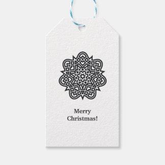 Étiquette stylisée d'étoile-Noël de Noël