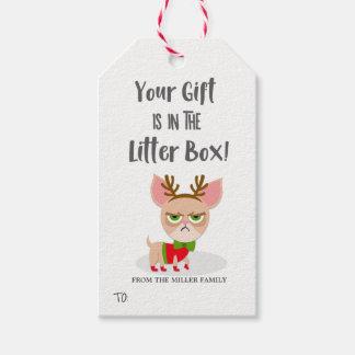 Étiquettes-cadeau Amoureux des chats drôle de Noël