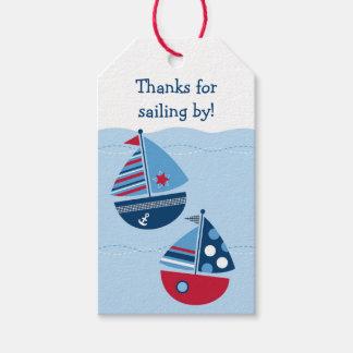 Étiquettes-cadeau Baby shower de voilier
