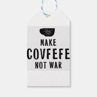 Étiquettes-cadeau faites la guerre de covfefe pas
