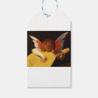 Étiquettes-cadeau L'ange musical - Noël vintage